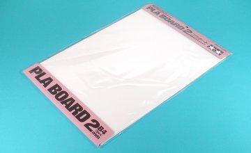 Kunststoff-Platte 2,0mm (2) weiß 257x364mm · TA 70146 ·  Tamiya