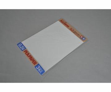 Kunststoff-Platte 0,2mm (3) weiß 257x364mm · TA 70209 ·  Tamiya
