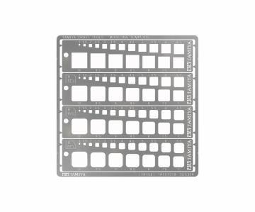 Modeling Quadrat Schablone 1-10mm (4) PE · TA 74156 ·  Tamiya
