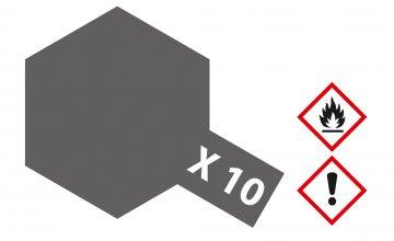 X-10 Gun Metall - glänzend [23 ml] · TA 81010 ·  Tamiya