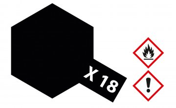 X-18 Schwarz Seidenmatt · TA 81018 ·  Tamiya