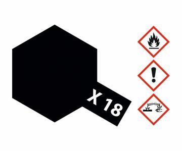 X-18 Schwarz - seidenmatt [10 ml] · TA 81518 ·  Tamiya