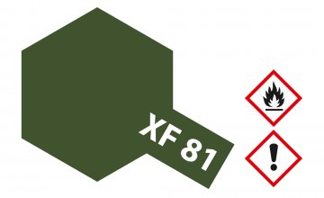 XF-81 Dunkel Grün 2 RAF matt 10ml · TA 81781 ·  Tamiya
