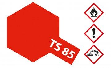 TS-85 Mica Hellrot Glim. F60 glän. 100ml · TA 85085 ·  Tamiya