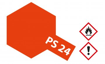PS-24 Neon Orange Polycarbonat 100ml · TA 86024 ·  Tamiya