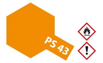 PS-43 Translucent Orange Polyc. 100ml · TA 86043 ·  Tamiya