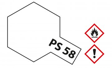 PS-58 Perleffekt Klar Polycarbonat 100ml · TA 86058 ·  Tamiya