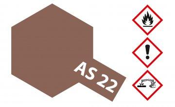 AS-22 Erdfarbe Dunkel matt 100ml · TA 86522 ·  Tamiya