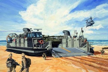 USMC Landing Craft Air Cushion · TRU 00107 ·  Trumpeter · 1:144