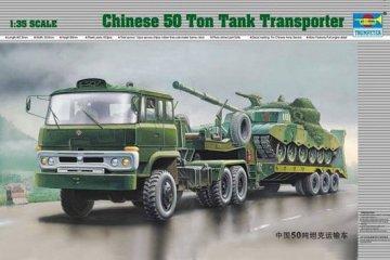 Chinesischer 50-t-Panzertransporter · TRU 00201 ·  Trumpeter · 1:35