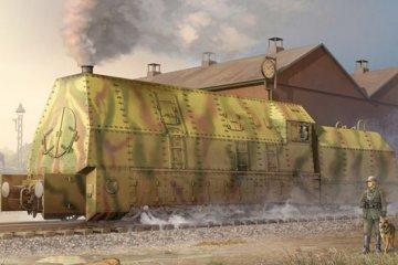 Ger. Panzerlok BR57 Armoured Locomotive · TRU 00219 ·  Trumpeter · 1:35