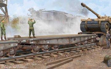 Schwere Plattformwagen Type SSyms 80 · TRU 00221 ·  Trumpeter · 1:35