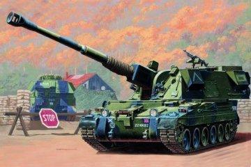 Britische 155 mm AS-90 Selbstfahrlafette · TRU 00324 ·  Trumpeter · 1:35