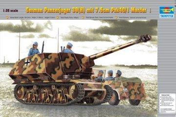 PzKpfw 39(H) Panzerjäger mit 7,5 cm Pak 40/1 Marder · TRU 00354 ·  Trumpeter · 1:35
