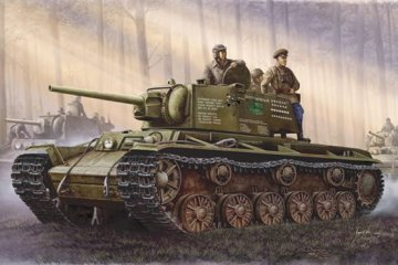 Russischer Panzer KV-1, 1942 Einfacher Turm · TRU 00358 ·  Trumpeter · 1:35