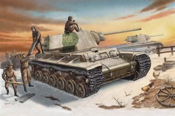 Russland KV-1 (1942) Heavy Gust Turret Tank · TRU 00359 ·  Trumpeter · 1:35