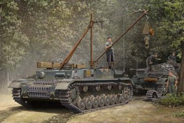 German Bergepanzer IV Recovery Vehicle · TRU 00389 ·  Trumpeter · 1:35