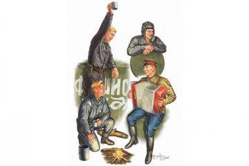 WWII Soviets Tank Soldier · TRU 00413 ·  Trumpeter · 1:35