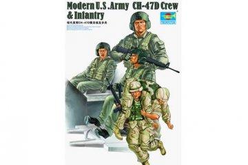Modern U.S. Army CH-47D Crew & Infantry · TRU 00415 ·  Trumpeter · 1:35