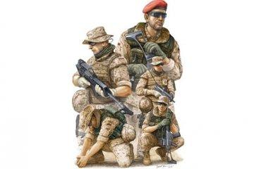 Modern German ISAF Soldiers in Afghanist · TRU 00421 ·  Trumpeter · 1:35