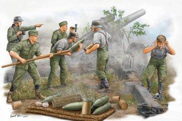 German Field Howitzer Gun Crew on firing · TRU 00425 ·  Trumpeter · 1:35