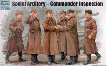 Soviet Artillery - Commander Inspection · TRU 00428 ·  Trumpeter · 1:35