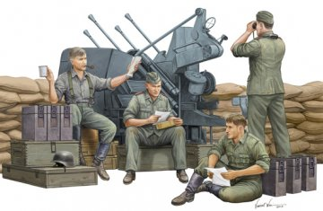 German Anti-Aircraft Gun Crew · TRU 00432 ·  Trumpeter · 1:35