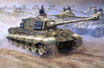 German King Tiger 2 in 1 · TRU 00910 ·  Trumpeter · 1:16