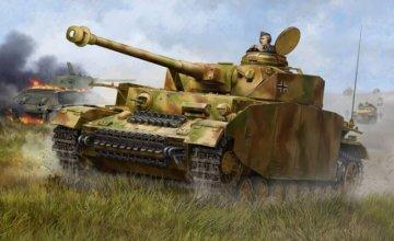 German Pzkpfw IV Ausf.H Medium Tank · TRU 00920 ·  Trumpeter · 1:16