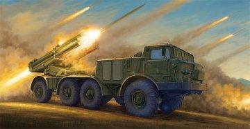 Russian 9P140 TEL of 9K57 Uragan Multipl Launch Rocket System · TRU 01026 ·  Trumpeter · 1:35