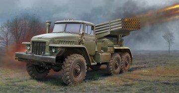 Russian BM-21 Grad Multiple RocketLaunch · TRU 01028 ·  Trumpeter · 1:35