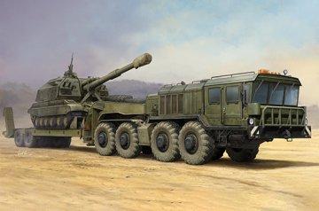 Russian KZKT-7428 Transporter with KZKT- -9101 Semi Trailer · TRU 01039 ·  Trumpeter · 1:35