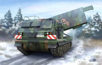 M270/A1 Multiple Launch Rocket System - Germany · TRU 01046 ·  Trumpeter · 1:35