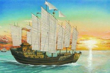 Chinesische Dschunke Chengho 1405-1430 · TRU 01202 ·  Trumpeter · 1:60