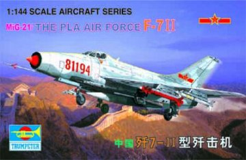 MiG-21 J-711 China (The Pla Airforce) · TRU 01325 ·  Trumpeter · 1:144