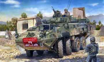 LAV-III 8x8 wheeled armoured vehicle · TRU 01519 ·  Trumpeter · 1:35
