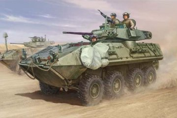 LAV-A2 8x8 wheeled armoured vehicle · TRU 01521 ·  Trumpeter · 1:35