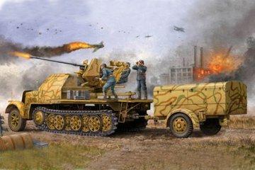 German 3,7cm Flak 37 auf Selbstfahrlafette Sd.Kfz. 7/2 late version · TRU 01526 ·  Trumpeter · 1:35