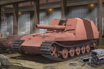 Geschützwagen Tiger Grille21/210mm Morta · TRU 01540 ·  Trumpeter · 1:35