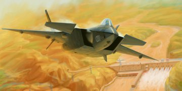 Chinese J-20 Mighty Dragon (Prototype No.2011) · TRU 01665 ·  Trumpeter · 1:72