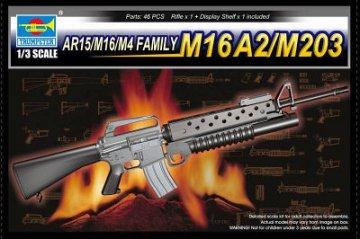 AR15/M16/M4 FAMILY-M16A2/M203 · TRU 01904 ·  Trumpeter · 1:3