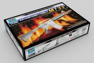 AR15/M16/M4 Family-M733 · TRU 01906 ·  Trumpeter · 1:3