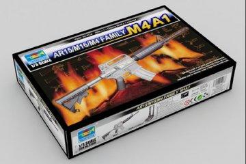 AR15/M16/M4 Family-M4A1 · TRU 01908 ·  Trumpeter · 1:3