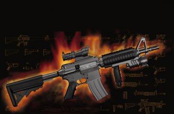 AR15/M16/M4 FAMILY-MK.18 Mod o CQBR · TRU 01914 ·  Trumpeter · 1:3