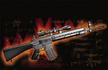 AR15/M16/M4 FAMILY-MK.12 Mod o/1 SPR · TRU 01918 ·  Trumpeter · 1:3
