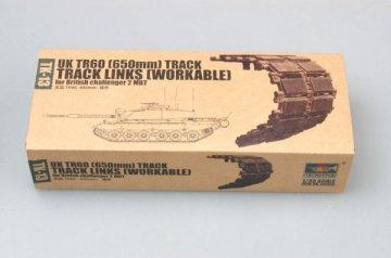 UK TR60 (650mm) track for British challenger 2 MBT · TRU 02043 ·  Trumpeter · 1:35