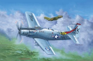 A-1H AD-6 Skyraider · TRU 02253 ·  Trumpeter · 1:32