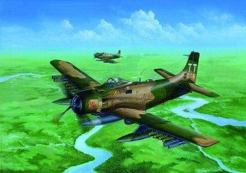 A-1J AD-7 Skyraider · TRU 02254 ·  Trumpeter · 1:32