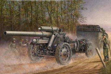 German 15cm s.FH 18 Field Howitzer · TRU 02304 ·  Trumpeter · 1:35