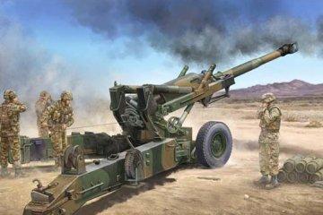 US M198 155mm Medium Towed Howitzer Early Version · TRU 02306 ·  Trumpeter · 1:35